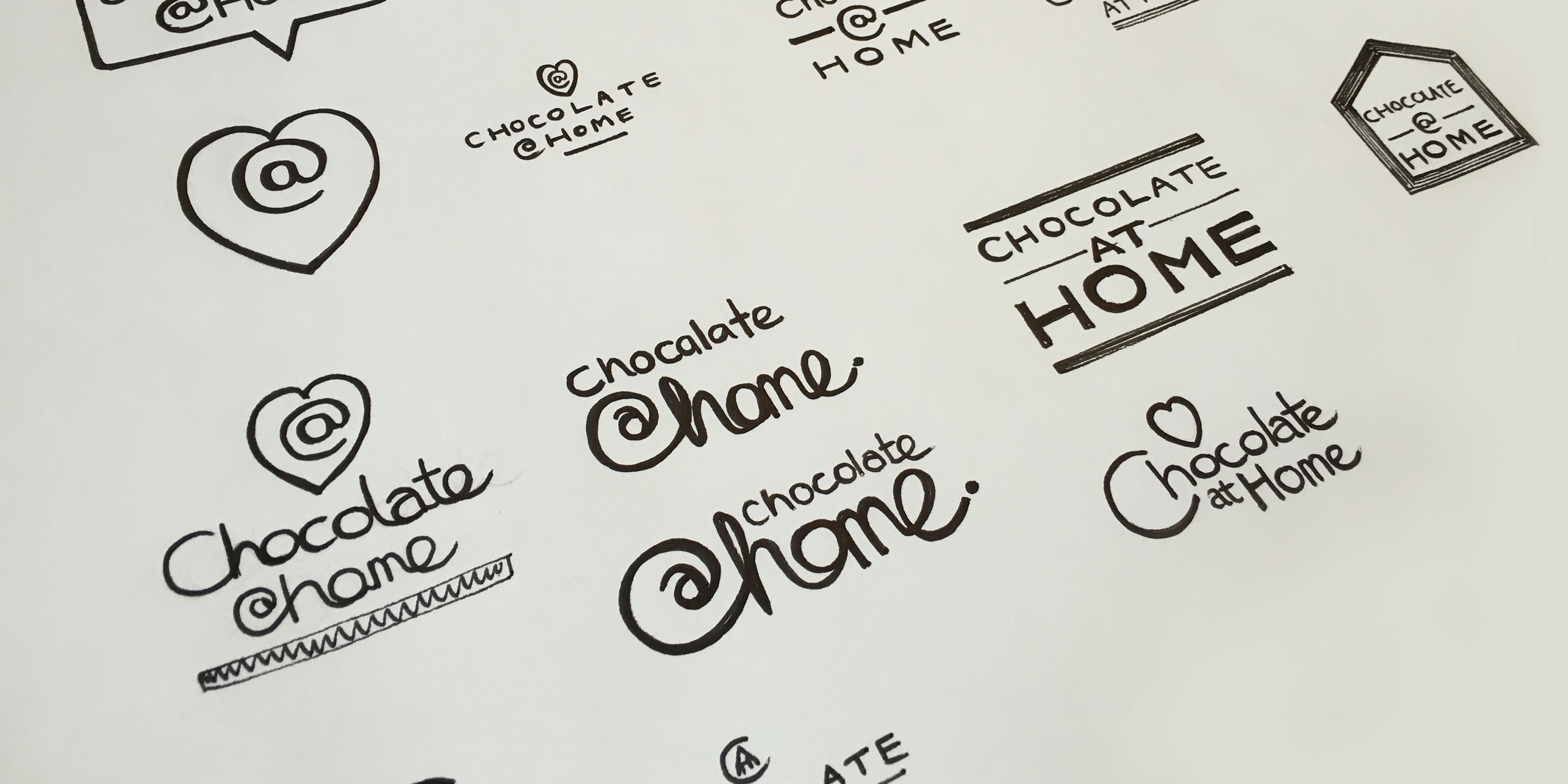 Chocolate Branding and Packaging Sketched Concepts