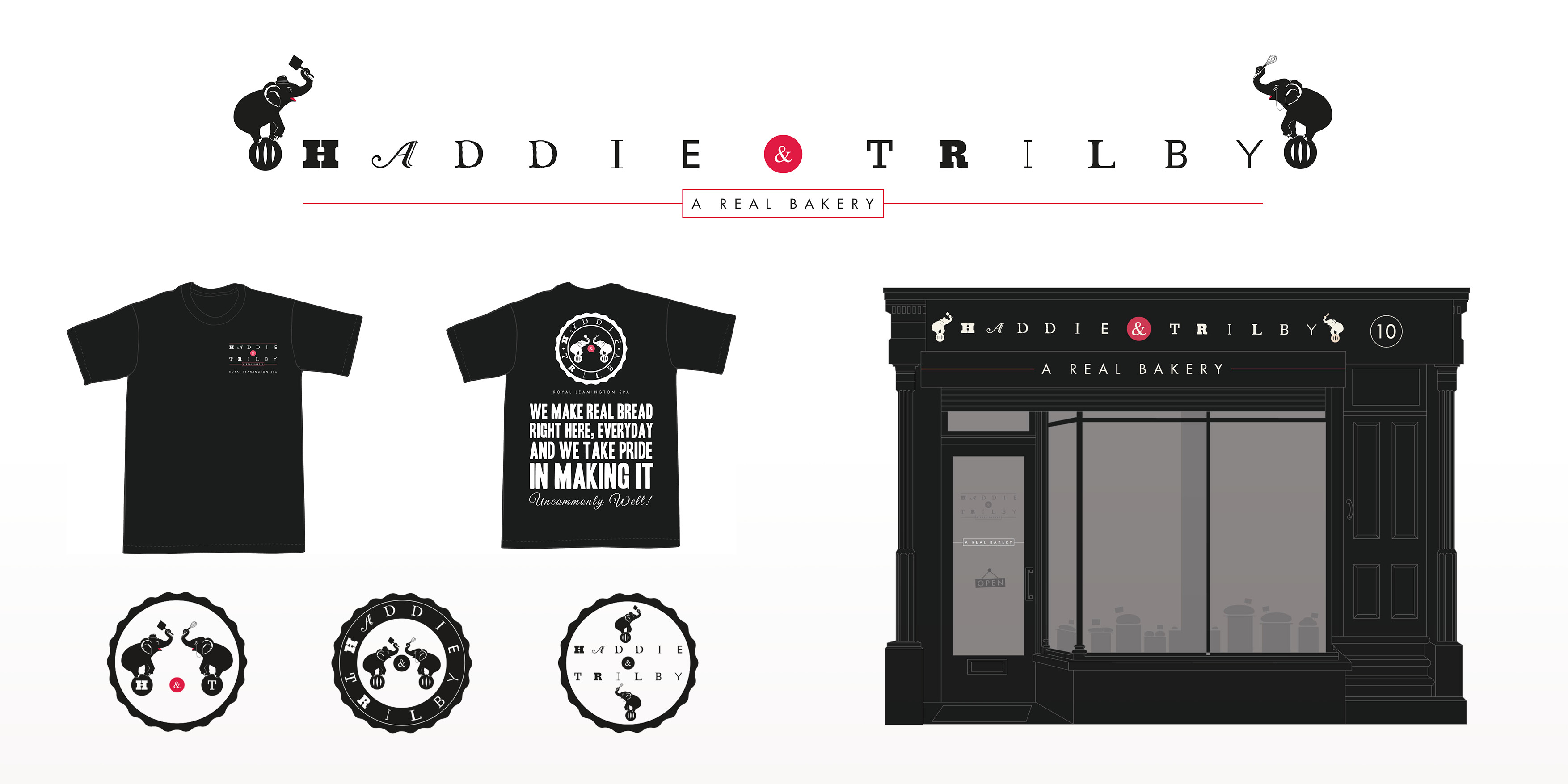 Haddie & Trilby Bakery Brand Design by Toast Food