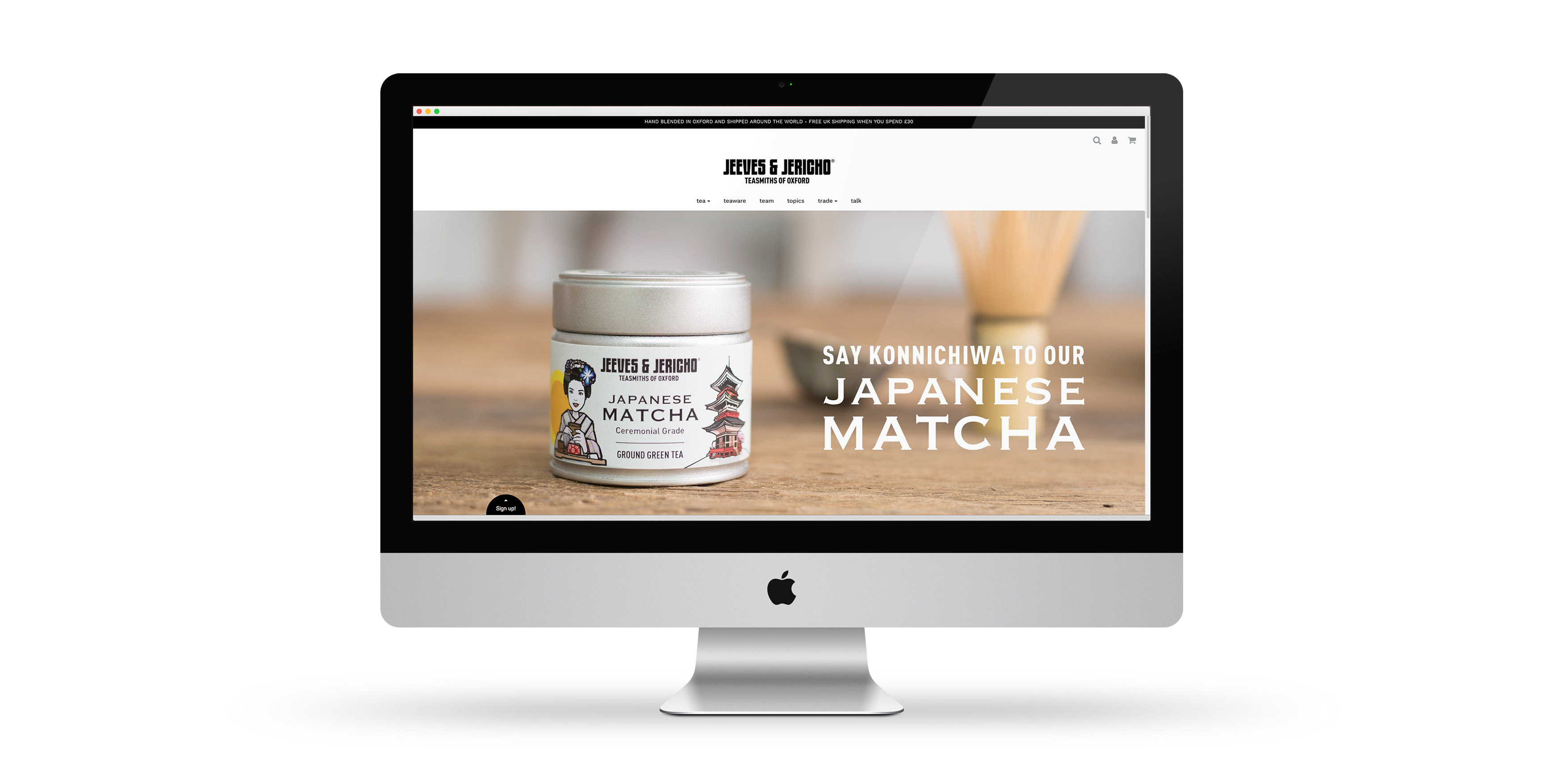 Jeeves and Jericho Tea Website Design