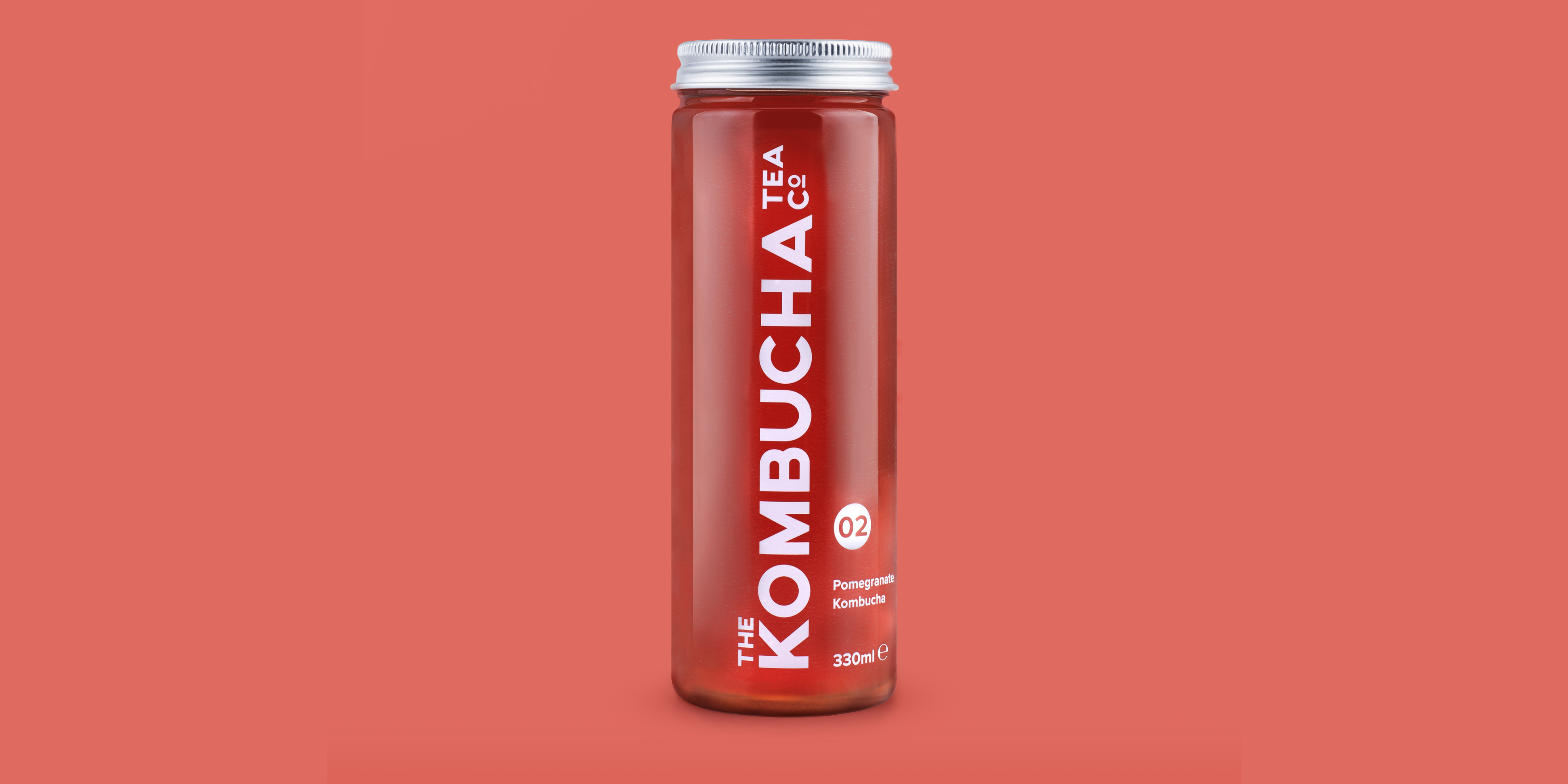 The Kombucha Tea Company Pomengranatel Flavour Branding and Packaging by Toast Food