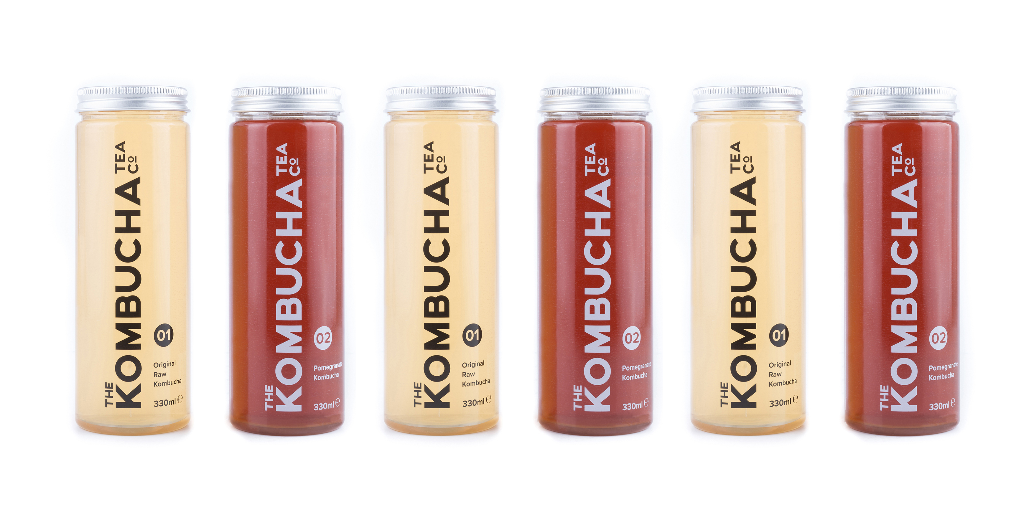 Group Image of The Kombucha Tea Company Branding and Packaging by Toast Food