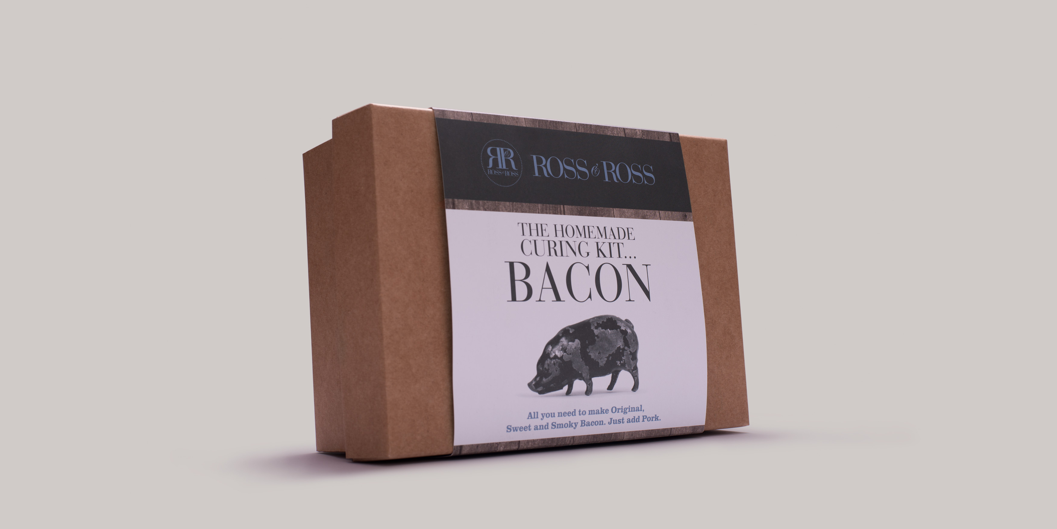 Ross and Ross Food Bacon Kit Packaging Design by Toast Food