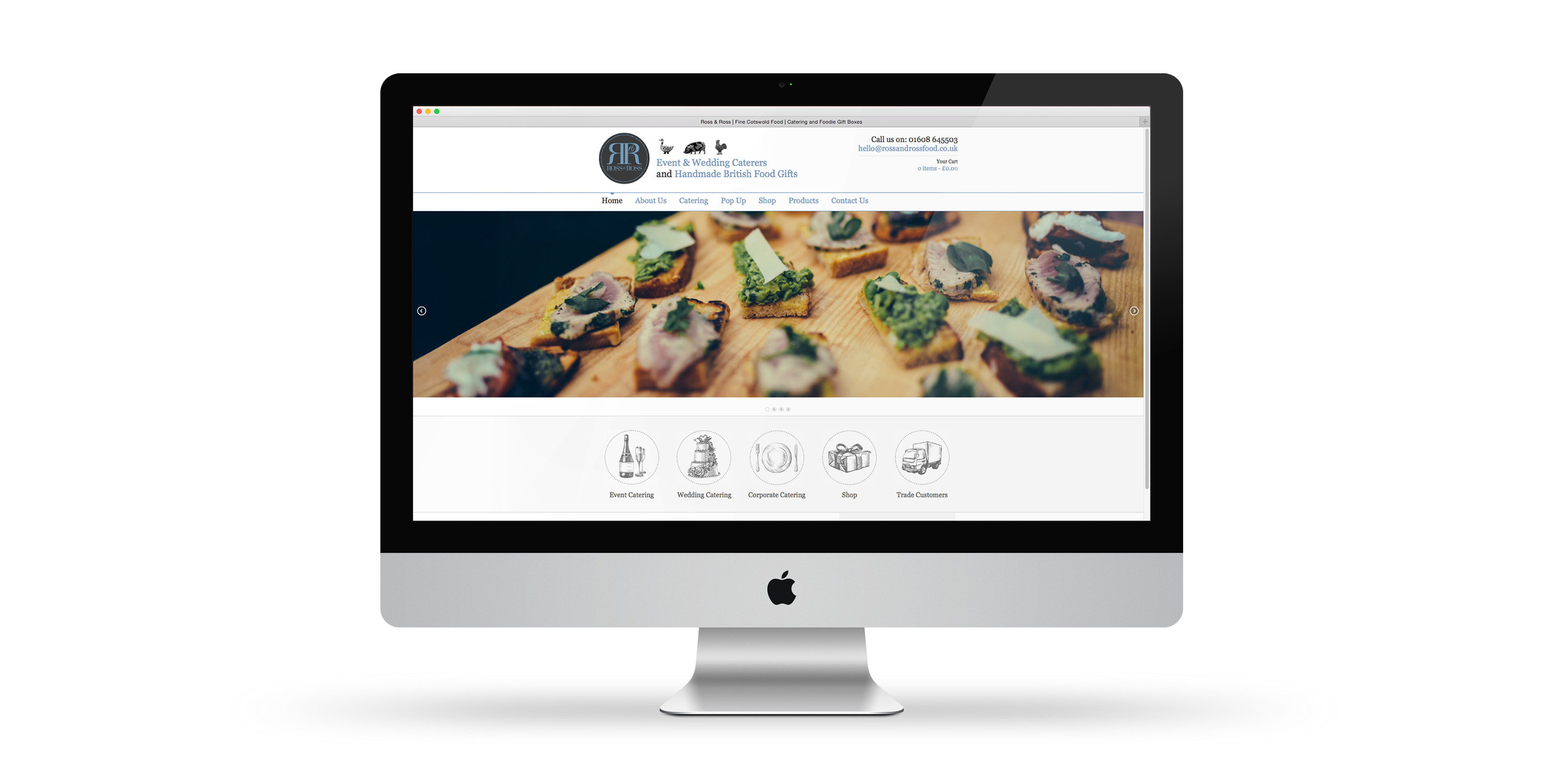 Ross and Ross Food Website Design by Toast Food