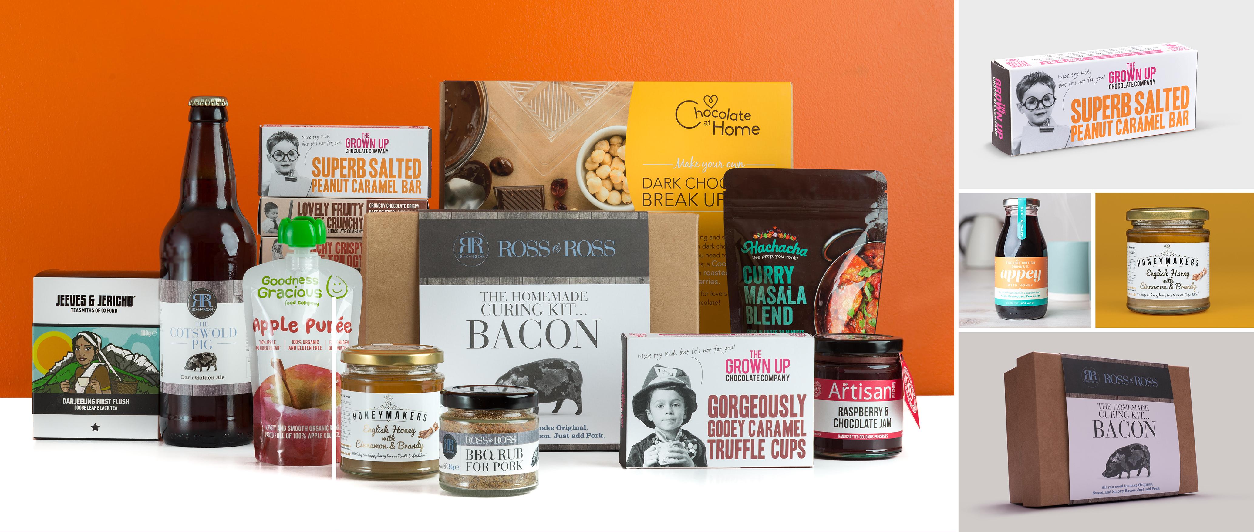 Examples of creative food branding by Toast Food, food branding and packaging designers.