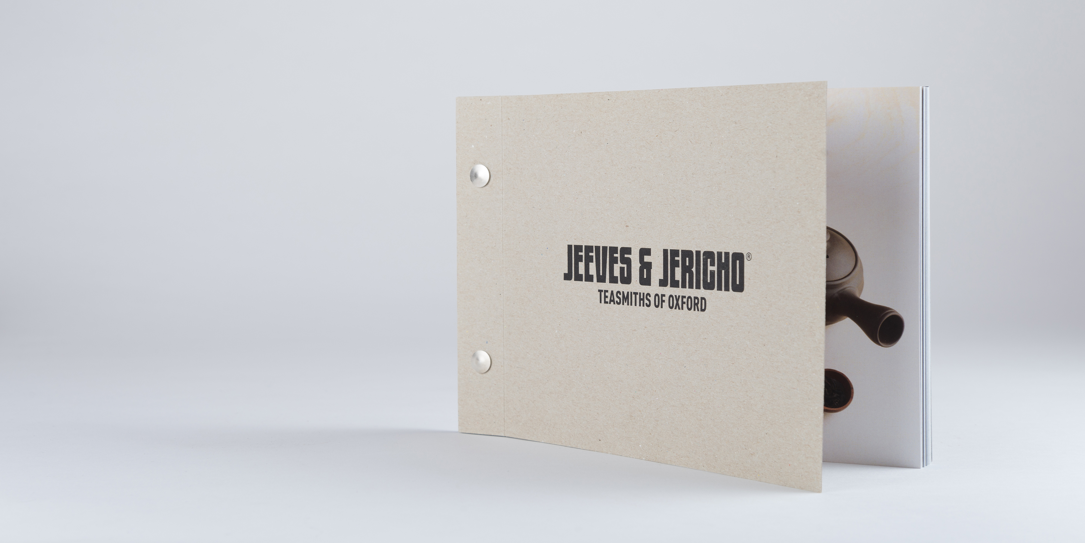 Jeeves and Jericho Tea Brochure Design