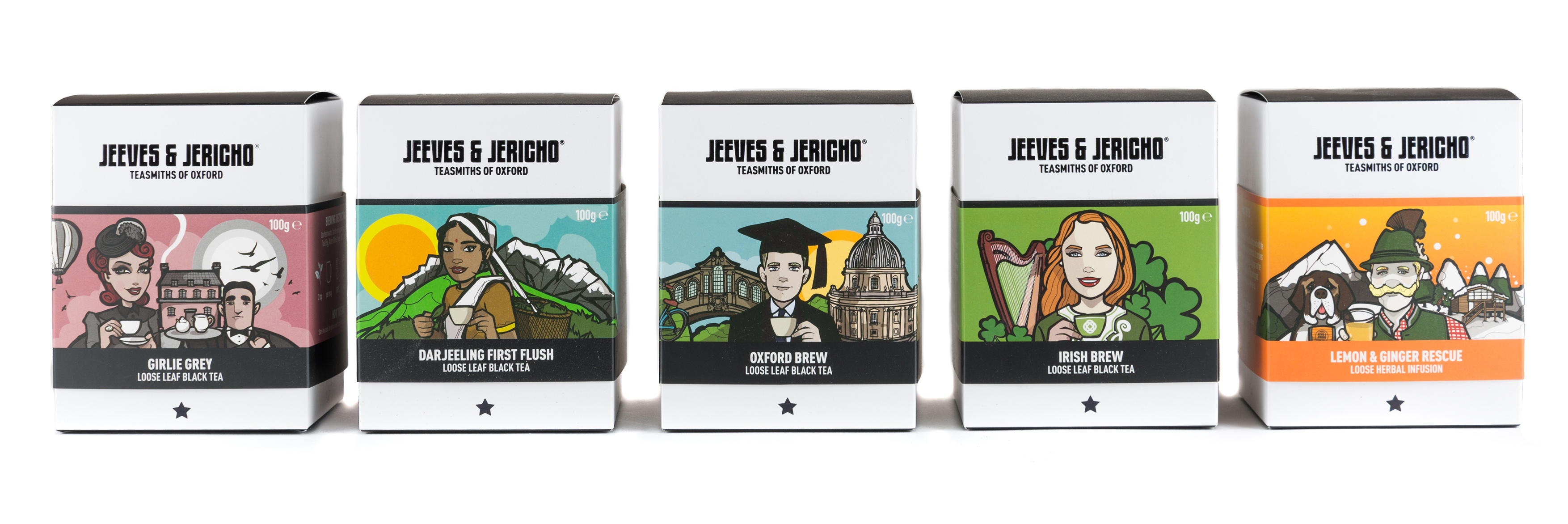 Jeeves and Jericho Tea Packaging Group