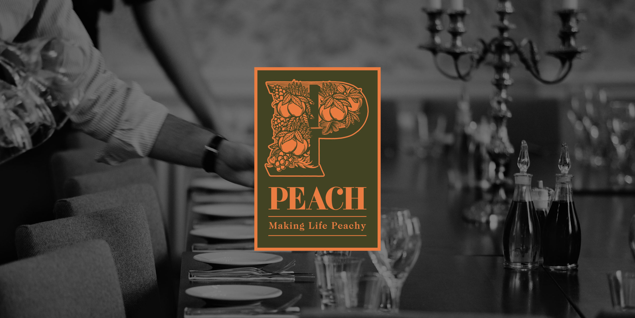 Peach Pubs Co Pub Branding by Toast Food