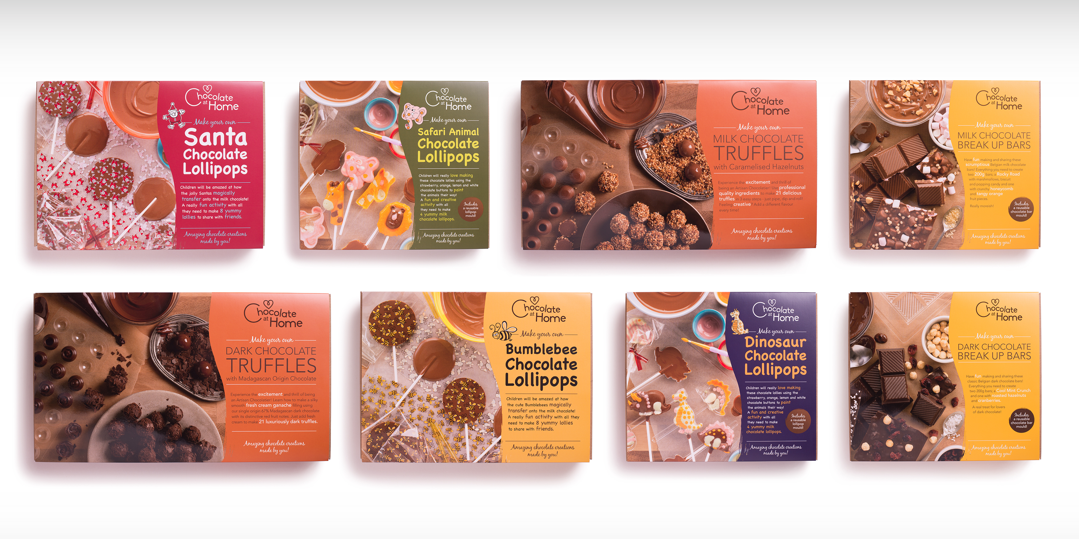 Chocolate at Home Branding and Packaging range