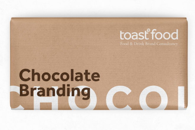 Chocolate branding by Toast Food