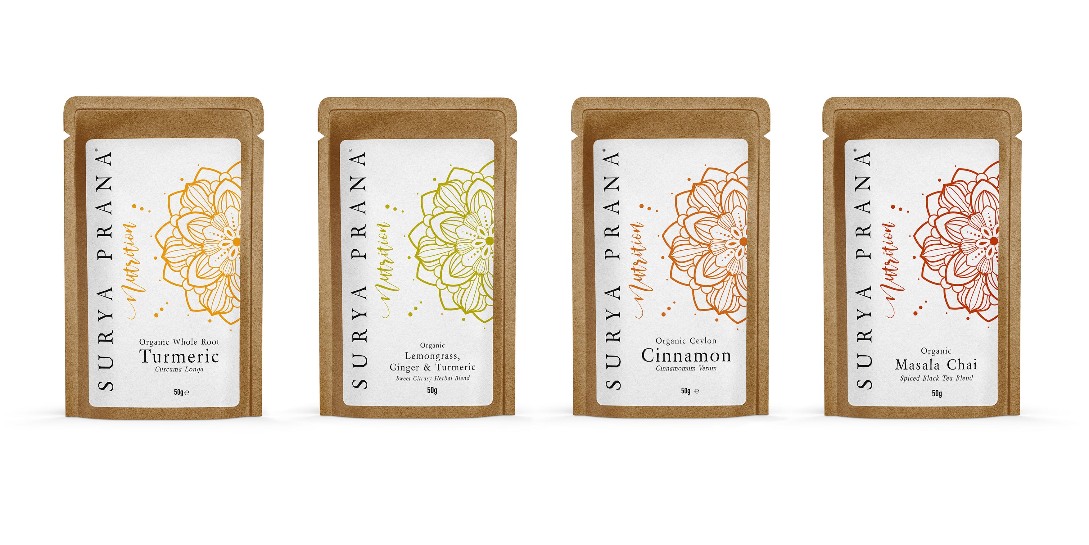 Surya Prana Nutrition Packaging Design